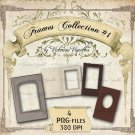 Digital Image Pack: Frames Collection#1 (PNG, transparent background)