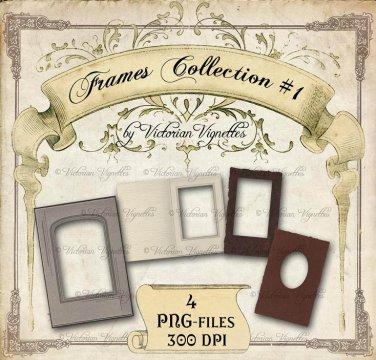 Digital Image Pack: Frames Collection#1 (PNG, transparent background)