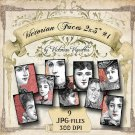Digital Image Pack: Victorian Faces #1