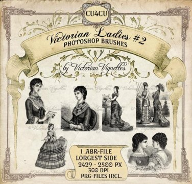 PS Brush: Victorian Ladies #2 (CU4CU, PNG's included)