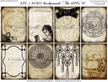 ATC/ACEO backs: The 1870's #1