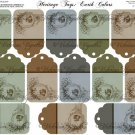 Heritage Tags Earth Colors #1