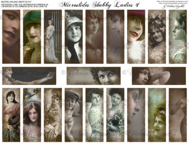 Microslides Shabby Ladies#1
