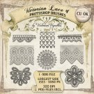 PS Brush: Victorian Lace #1 (CU4CU, PNG's included)