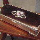 Silver Plated Floating Diamonds Jewelry Box