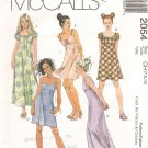 Girls Dresses in Two Lengths with Sleeve Variations size 7 8 10 Uncut M2054
