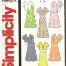 Simplicity 7416 Girls' Dress and Jacket size 7, 8, 10, 12, 14 Uncut