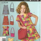 Girls Dress and Bag size 3, 4, 5, 6, 7, 8 Uncut Simplicity 4927