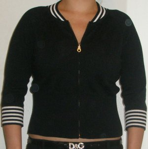 Perfect Cynthia Steffe black and white trim sweater, S