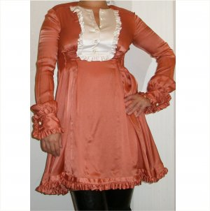 Roberto Cavalli $800 NEW w tags gorgeous silk dress, 40