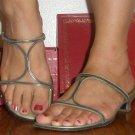 Bruno Magli beautiful metallic silver sandals, 5.5