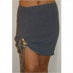 Adorable Chloe skirt with silver sequined ruched side bow, 8