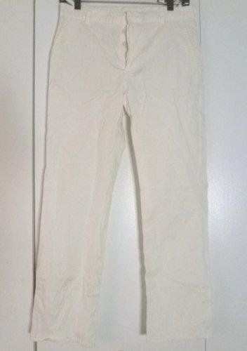 Classic straight leg white Helmut Lang trousers