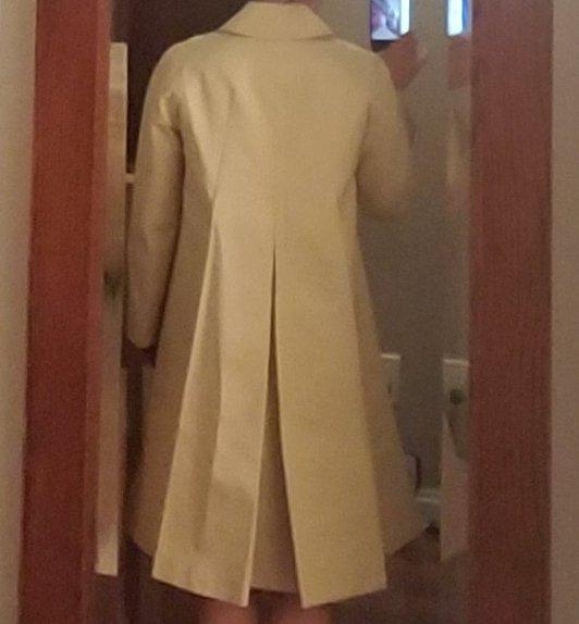NWT JIL SANDER NAVY pleated back raincoat, 6