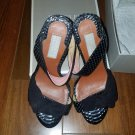 Badgley Mischka  $250 snake skin and silk heels, 6