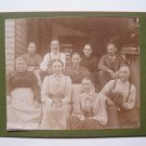 Farm Family Women Men with Dog Vtg Cabinet Card Photo