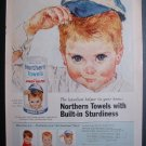 Northern Towels Cute Little All American Boys Print Ad