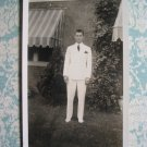 1938 Vtg Photo of Handsome Young Man Wearing White Suit