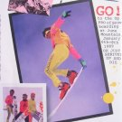 1989 OCEAN PACIFIC snowboard Team 1980s Photo Print Ad