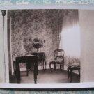 1930s Vtg Photo House Interior Flower Vase Chairs Table
