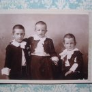 Cute Boys Wear Elaborate Outfits Vtg Cabinet Card Photo