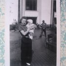 Woman Holding Cute Outfit Little Baby Girl 1940s Photo