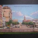 Pennsylvania Ave Street Scene Washington DC Postcard