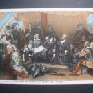 Embarkation of the Pilgrims From Delft Haven Postcard