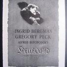 Alfred Hitchcock Gregory Peck Ingrid Bergman Spellbound