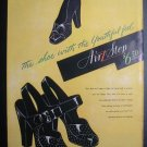1945 AIR STEPS Brown Shoe Co Vtg Fashion Art Print Ad