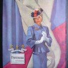 1945 FORSTMANN Woman Hat Broach Vtg '40s Photo Print Ad