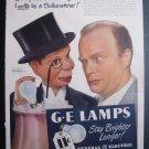 GE LAMPS Charley McCarthy Edgar Bergen Ventriloquist Ad