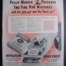 1945 PHILIP MORRIS Revelation Bond St Pipe Tobacco Ad