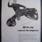 BELL TELEPHONE SYSTEMS US Navy Sailor Man Photo '40s Ad