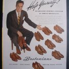 1945 BOSTONIANS Shoes Handsome Man Male Vintage 40s Ad