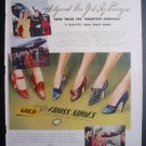 GOLD CROSS SHOES Pretty Women American Airlines '40s Ad