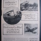 1945 CURTISS WRIGHT God Is My Co-Pilot Dennis Morgan Ad