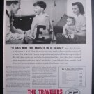 THE TRAVELERS INSURANCE VINTAGE PRINT AD Cute Baby Boy