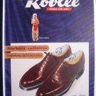 1945 ROBLEE REDSKINS Shoe Indian Chief Art Vtg Print Ad