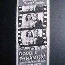 DOUBLE DYNAMITE Jane Russell Groucho Marx '50s Movie Ad