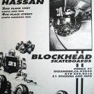 Omar Hassan Blockhead #Skateboard Race Car Art Print Ad