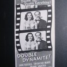 DOUBLE DYNAMITE Jane Russell Groucho Marx '50s Print Ad