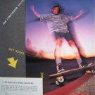1988 SAM CUNNINGHAM Skate Rags Vtg 80s Skateboarding Ad