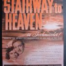 1947 STAIRWAY TO HEAVEN Vintage c1940s Movie Print Ad