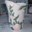Chic Pink Rose Pitcher Vase Vintage Porcelain Ceramic Not 2 Shabby