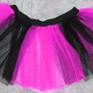 UV NEON Hot pink Black Striped TUTU SKIRT Punk Cyber Rave dance club disco party women girl