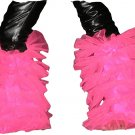 tutu fluffy legwarmers hot pink uv neon Boot Cover club