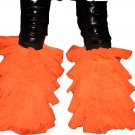 Fluffy ORANGE Neon UV tutu Leg warmers Boot Cover danc