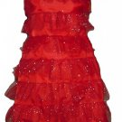 Red Fancy TUTU Dress Glitter costume dance club disco wedding evning party fancy dress