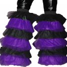 Fluffy typ Leg warmers Boot Cover Purple Black Rave dance party Clubwear Neon Cyber EMO PUNK GOTHIC